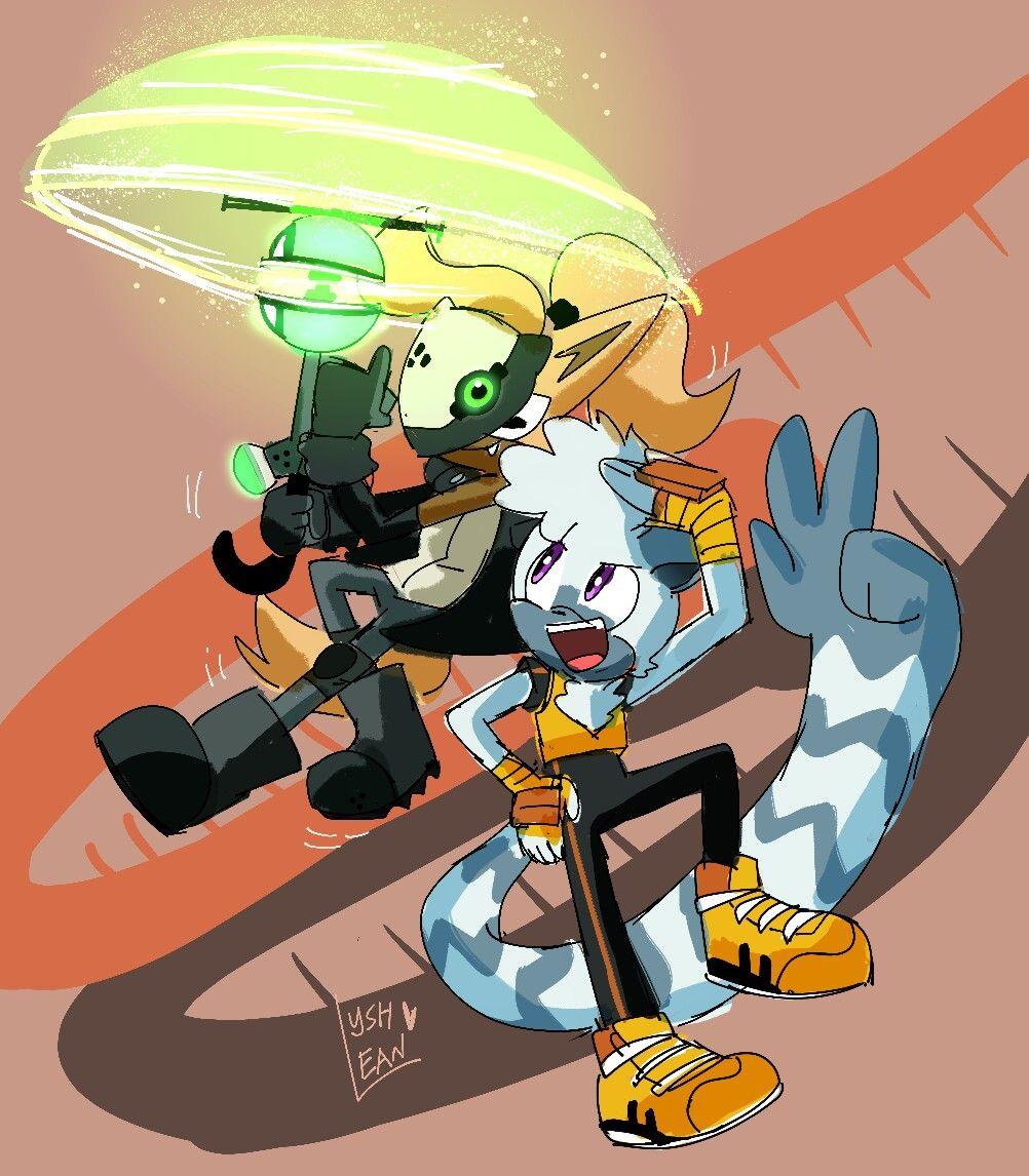 Whisper The Wolf Tangle The Lemur Sonic Fan Art Sonic Art Silver The Hedgehog