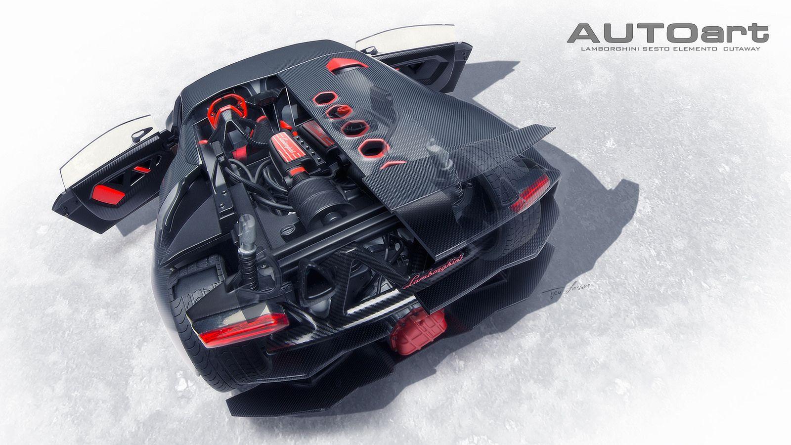 Lamborghini Sesto Elemento Cutaway Cars Lamborghini Cutaway Cars
