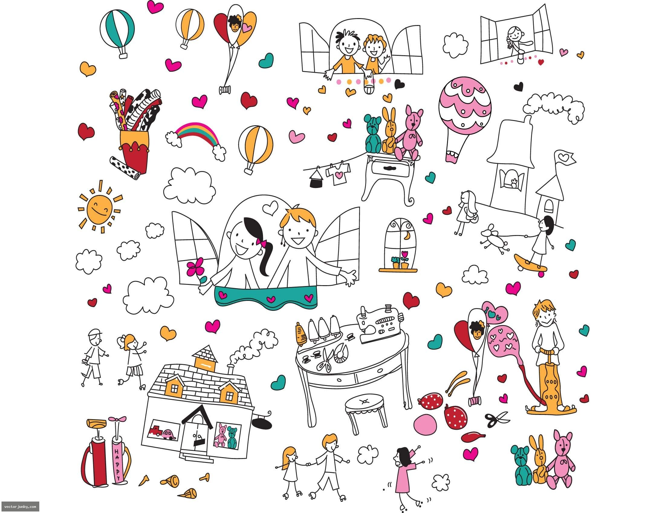 Free Vector Download » doodle. vectorjunky is an index of Free ...