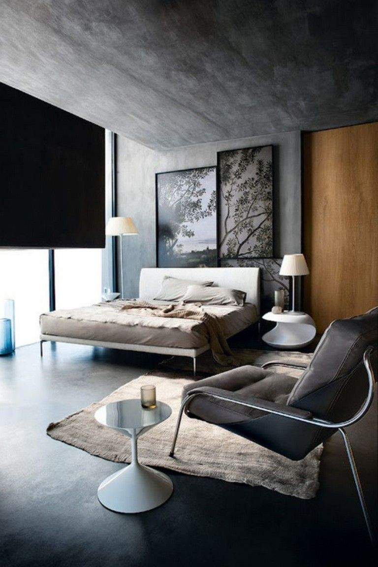 25 Comfy Minimalist Living Room Design Ideas Modern Bedroom Design Industrial Bedroom Design Minimalist Living Room Design
