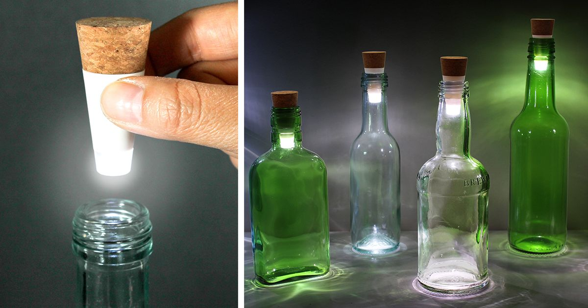 Turn Old Bottles Into Lamps With Rechargeable
