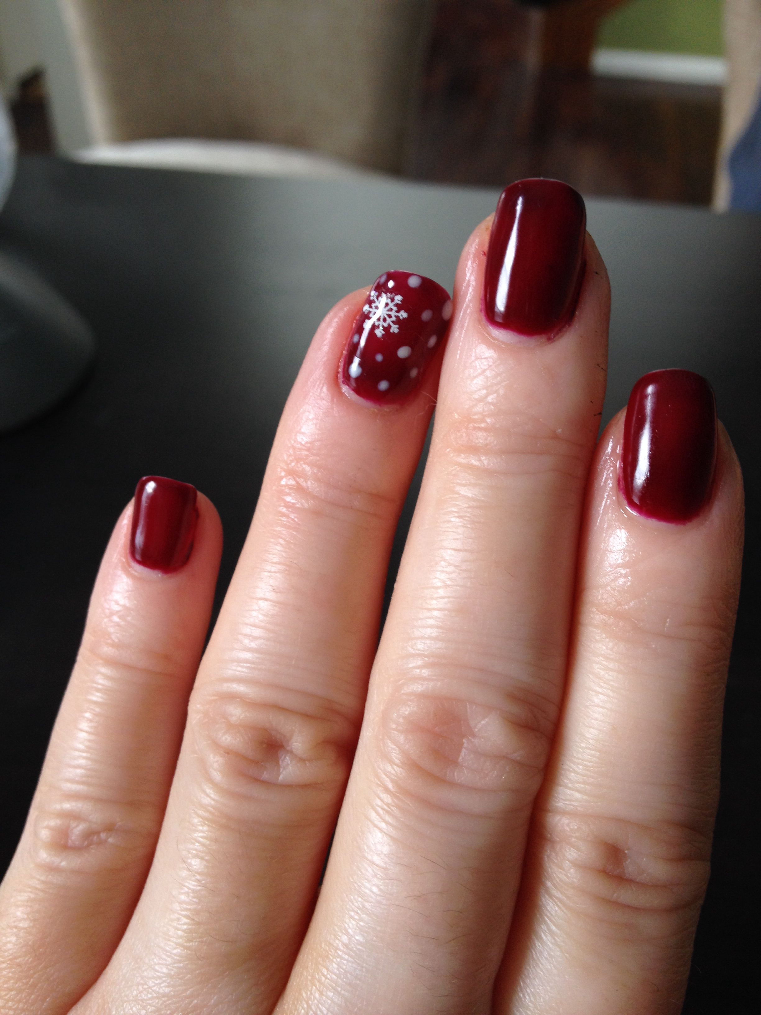 Christmas Nails Shellac Been Doing For 12 Years This Is My Favorite