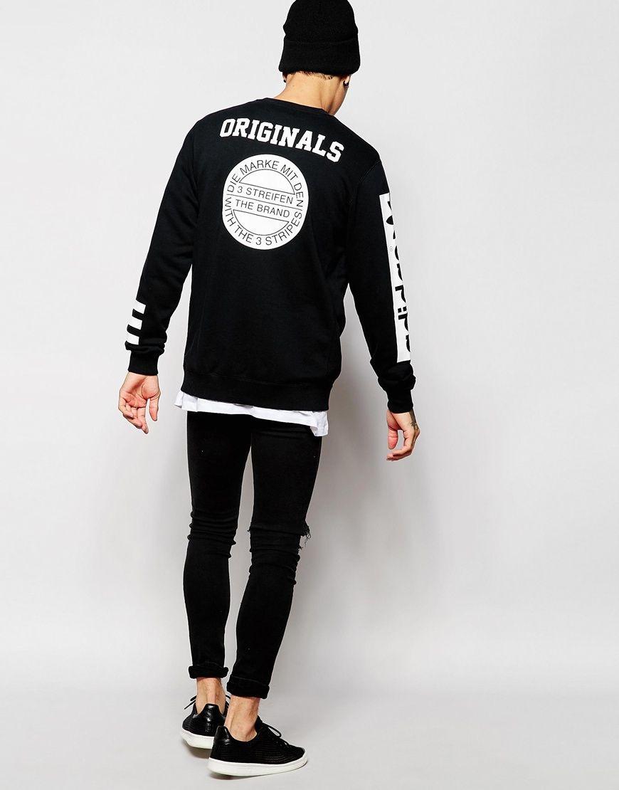 Adidas Originals Stars Sweatshirt Ab9577 At Asos Com Adidas Sweatshirts Adidas Originals [ 1110 x 870 Pixel ]