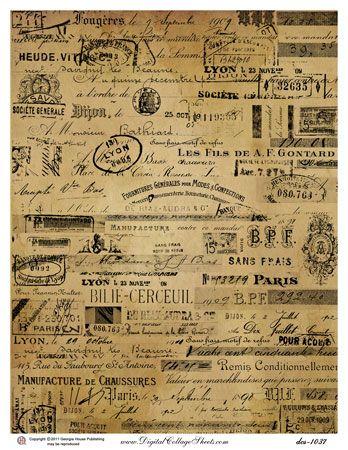 Printable Crafting By Holiday Vintage Printables French Ephemera Vintage Ephemera