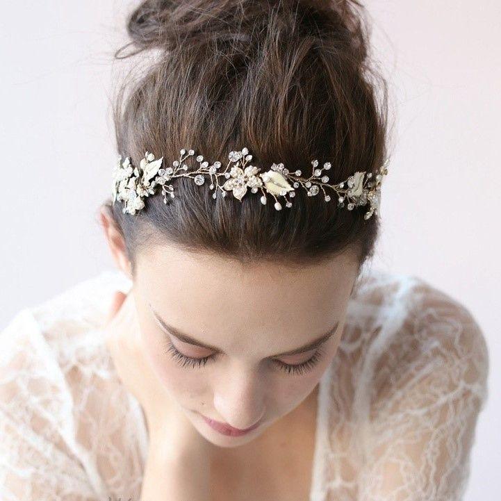 headband pour coiffure de mari e romantqiue vintage headband mariage vintage boheme chic. Black Bedroom Furniture Sets. Home Design Ideas