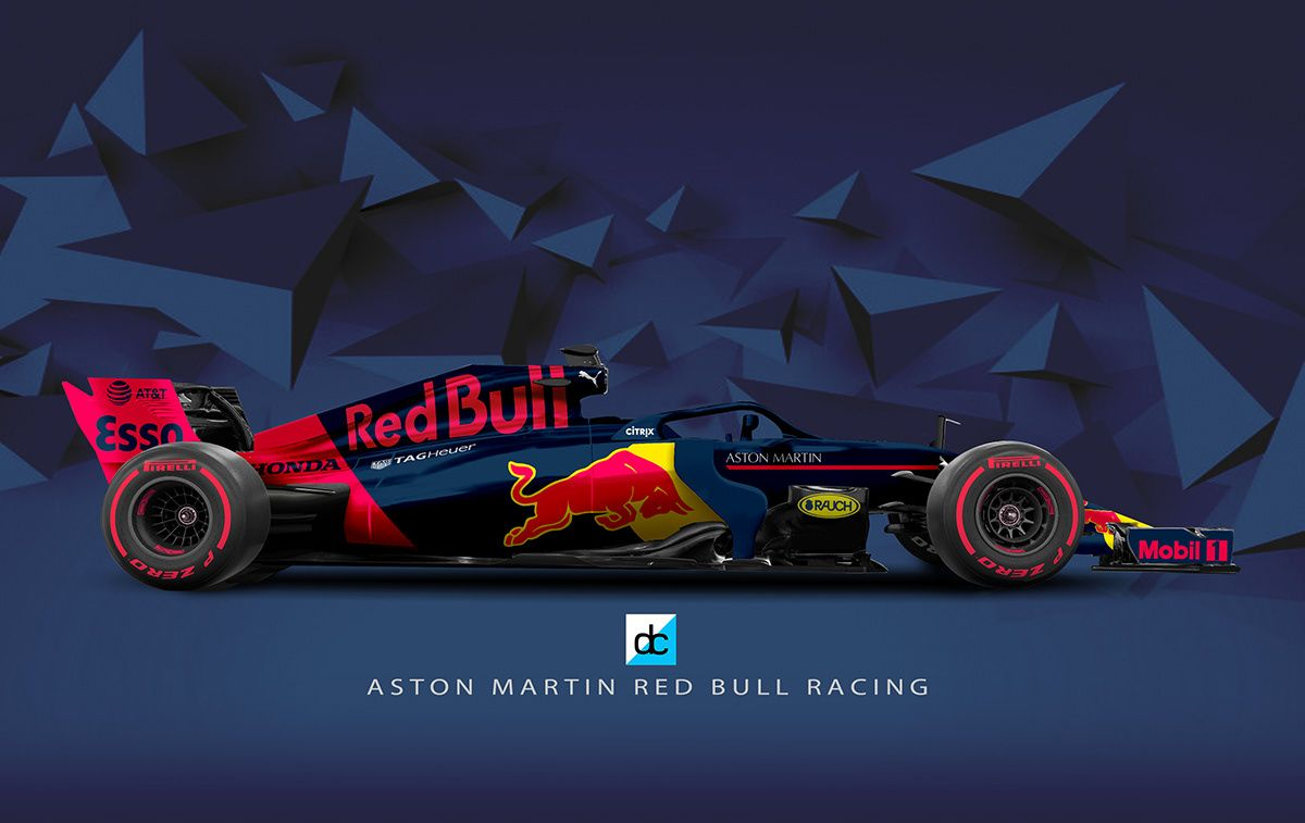 F1 2019 Season Concept Liveries On Behance Red Bull Racing