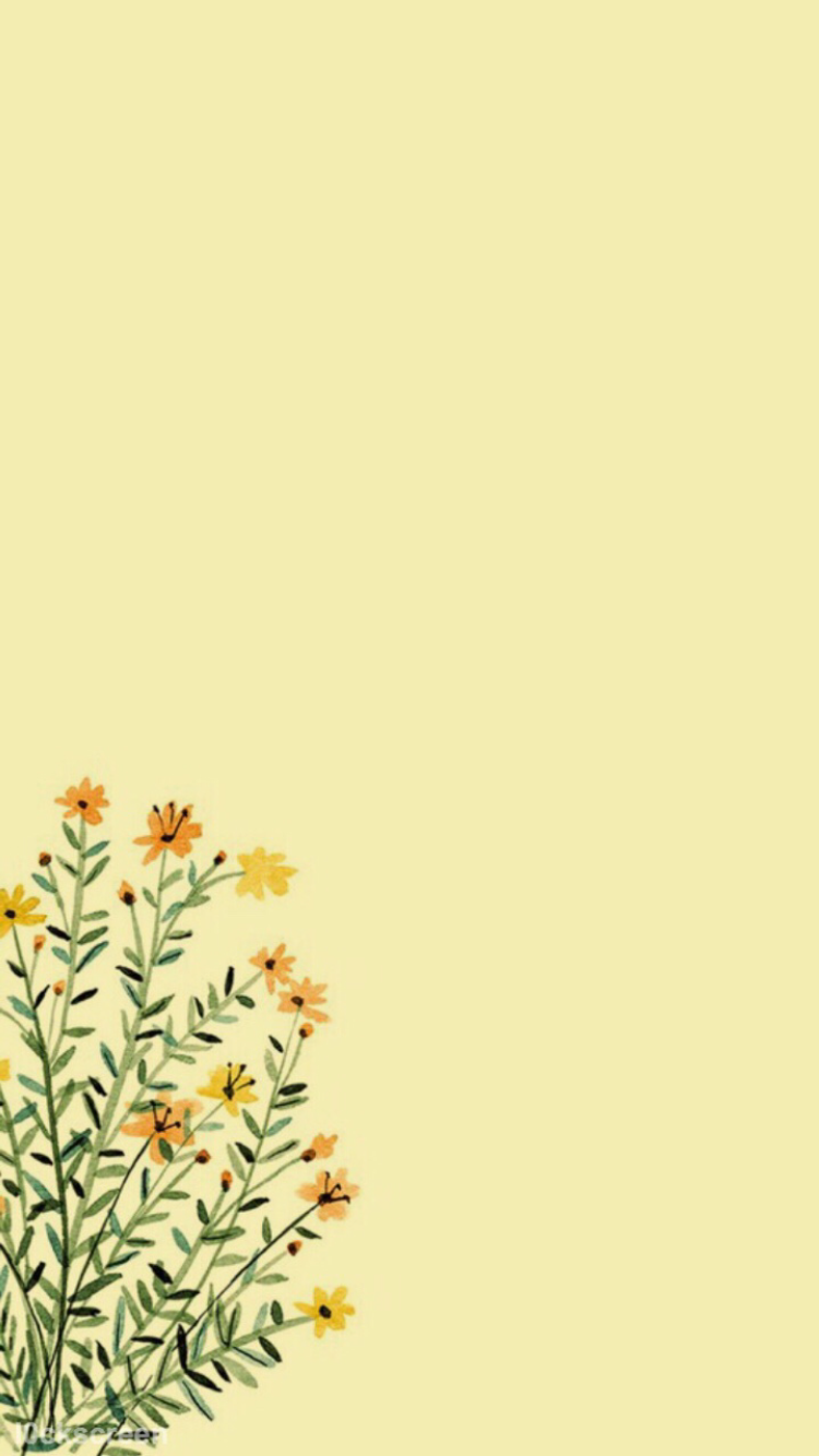 Phone background. Yellow wallpaper, Yellow aesthetic