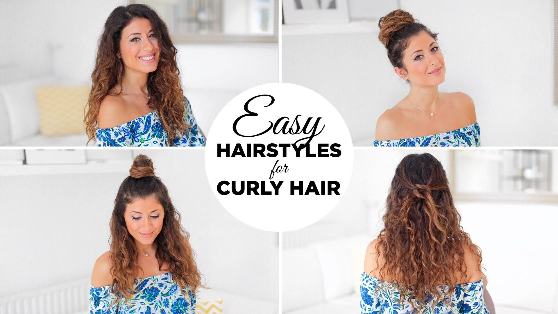 Hairstyles for curly hair easy hairstyles for curly hair