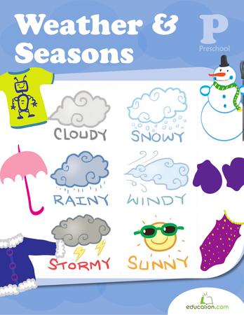 Weather Seasons Preschool Workbooks Preschool Seasons Preschool