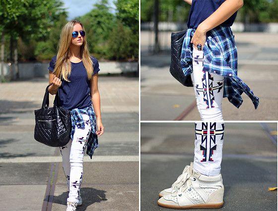 Primark Sunglasses, Gsus Shirt, Chanel Bag, Isabel Marant Jeans, Isabel Marant Shoes