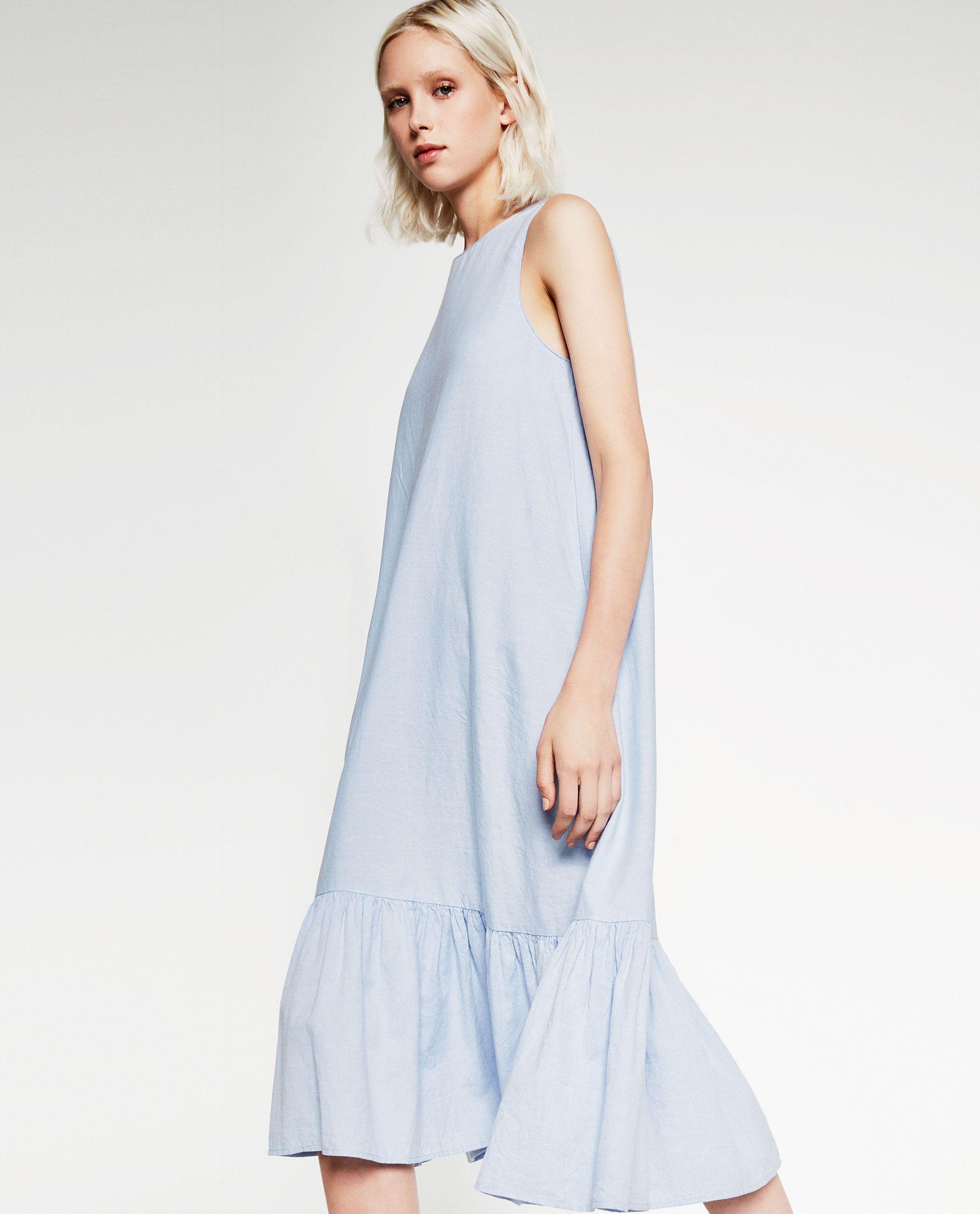 MIDI POPLIN DRESS - DRESSES-TRF   ZARA   → pieces.wearables   Pinterest