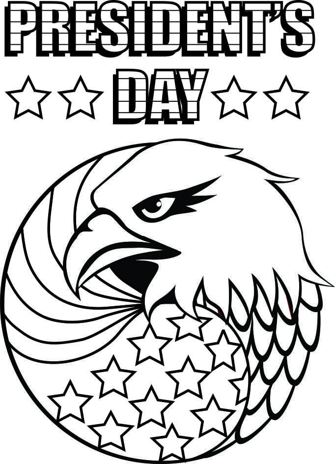 Kids will have fun coloring this Presidents Day Coloring Page as