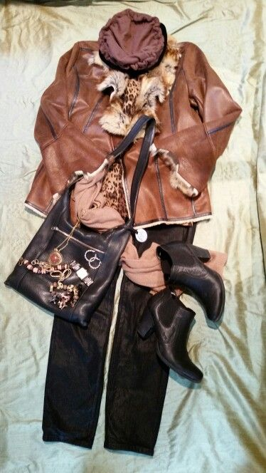 Leather, fur, & waxed NYDJs for winters day of errands and lunch with dear friends.
