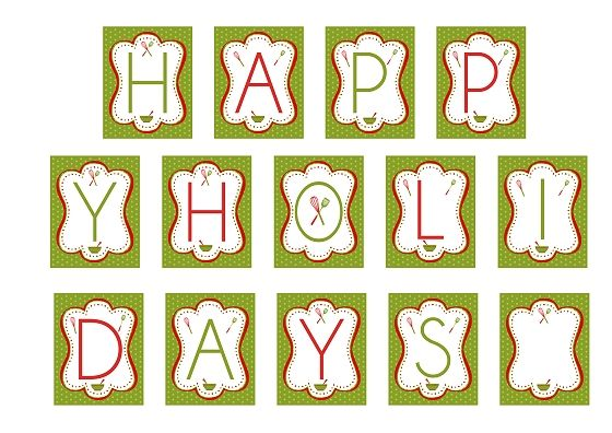happy holidays printable banner