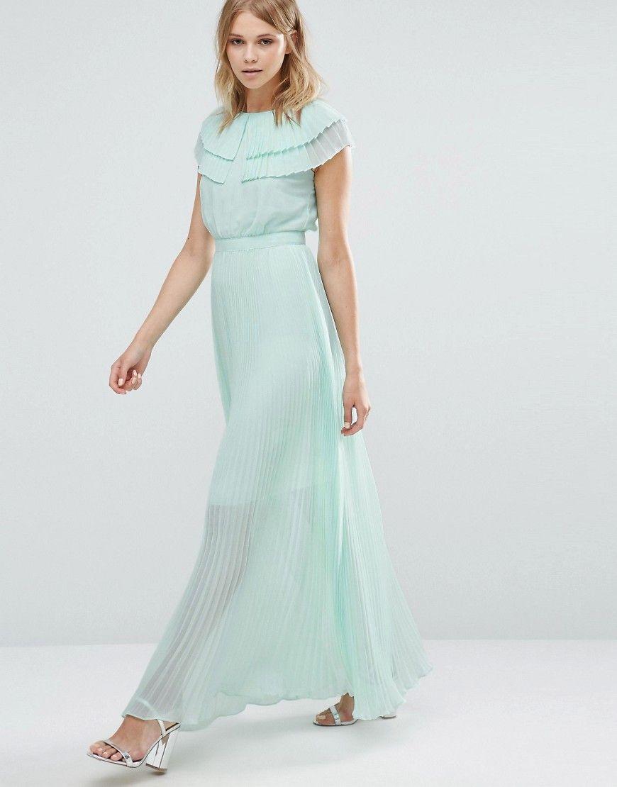 Warehouse+Pleated+Cape+Detail+Maxi+Dress   apparel   Pinterest ...