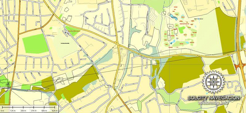dortmund printable vector street full atlas 25 parts map germany full editable adobe