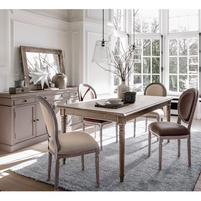 Image Nottingham 6 to 10 Seater Solid Poplar Dining Table La Redoute