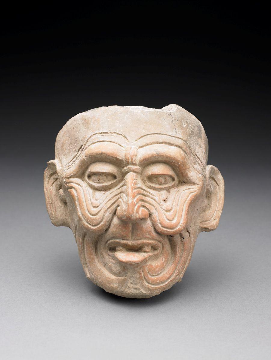 Cabeza de Dios viejo (Huehueteotl) - Veracruz cultura, Mexico, 600 - 900 Pre-Colombino.