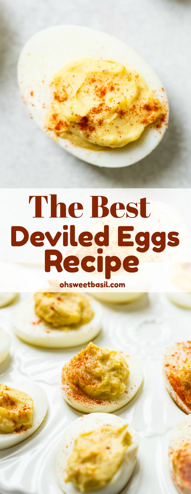 The BEST Deviled Eggs Recipe (So Easy!) - Oh Sweet Basil