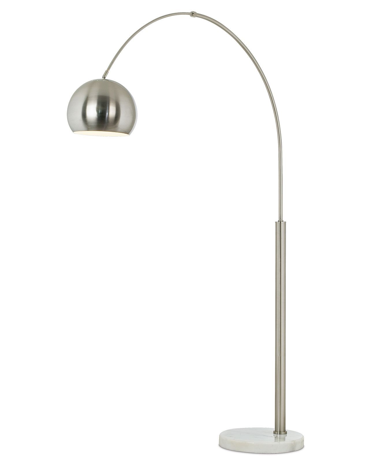 Basque Arc Nickel Floor Lamp Arc Floor Lamps Silver