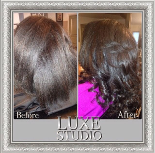 A Before And After Picture Of A Client Who Came In To Have Microlink