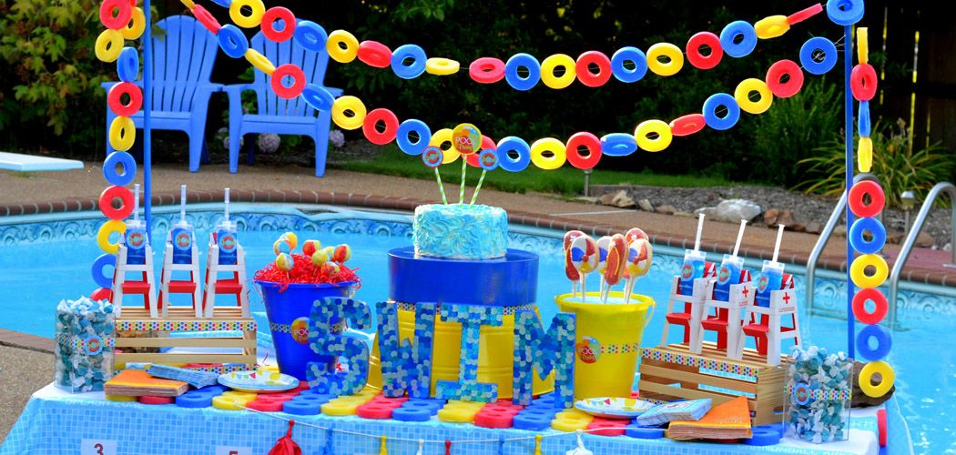 Pool Party Birthday Theme Swim Birthday Parties Birthday Pool Parties And Birthdays