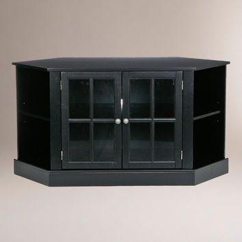Black Corner Media-Stand - World Market & Black Corner Media-Stand - World Market | Accessories for the home ...