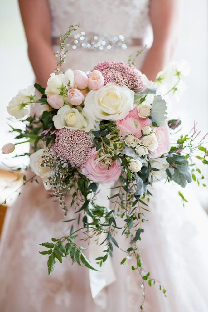45 Gorgeous Cascading Wedding Bouquets #flowerbouquetwedding