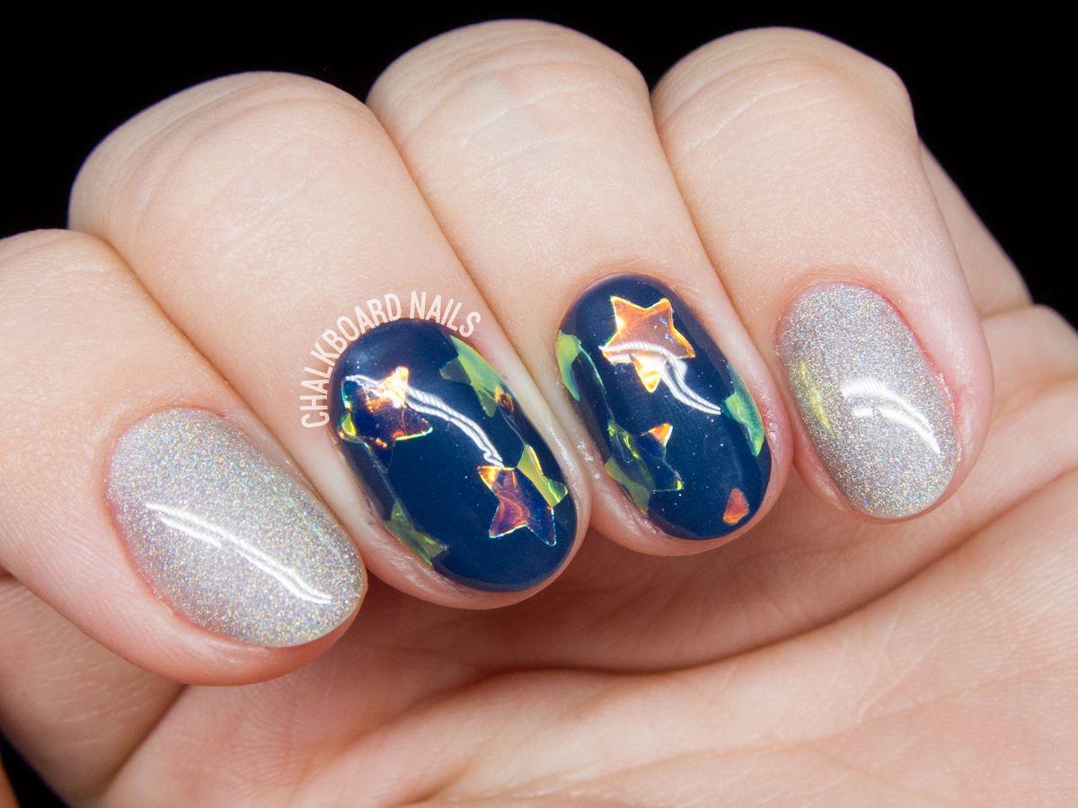 Gl Star Nail Art Tutorial Chalkboardnails