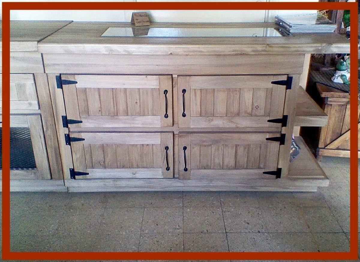 Bajo mesada y alacena rusticos estilo campo d nq np 13655 for Como hacer puerta rustica