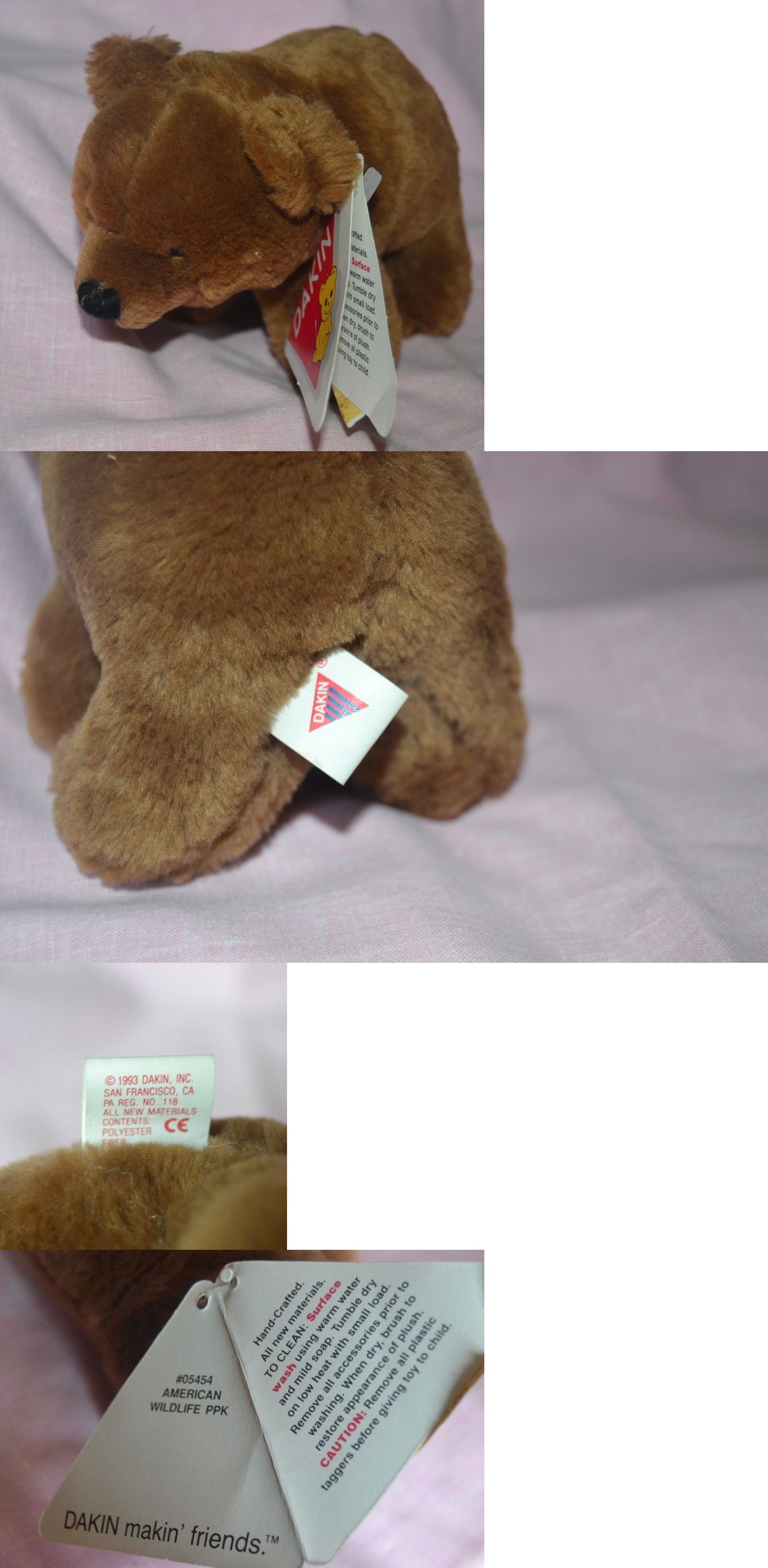 Can You Wash Stuffed Animals That Say Surface Wash Only Dakin 63654 Dakin American Wildlife 05454 Brown Bear 6 Plush Toy Stuffed Animal 1993 W Tag Buy It Now Only 19 99 On Ebay Dak Pet Toys Plush Toy Animals