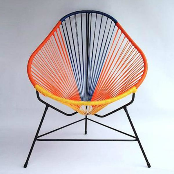 Multi Coloured Acapulco Chair From Ocho, Ethically Made In Mexico.