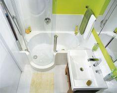 Kleines Bad Gestalten Beispiel Badewanne Duschkabine