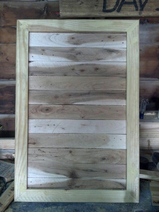 Cabinet door out of pallets | Pallet furniture, Rustic ...