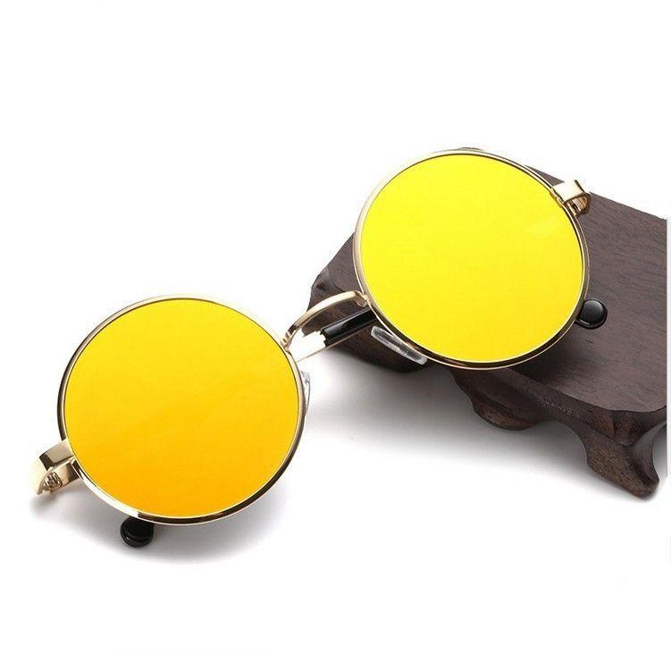 c4eeb2e0cf Round Metal Sunglasses Steampunk Men Women Fashion Glasses Brand Designer Retro  Vintage Sunglasses UV400