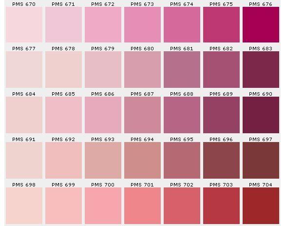 Pantone Pink Color Chart Todayss