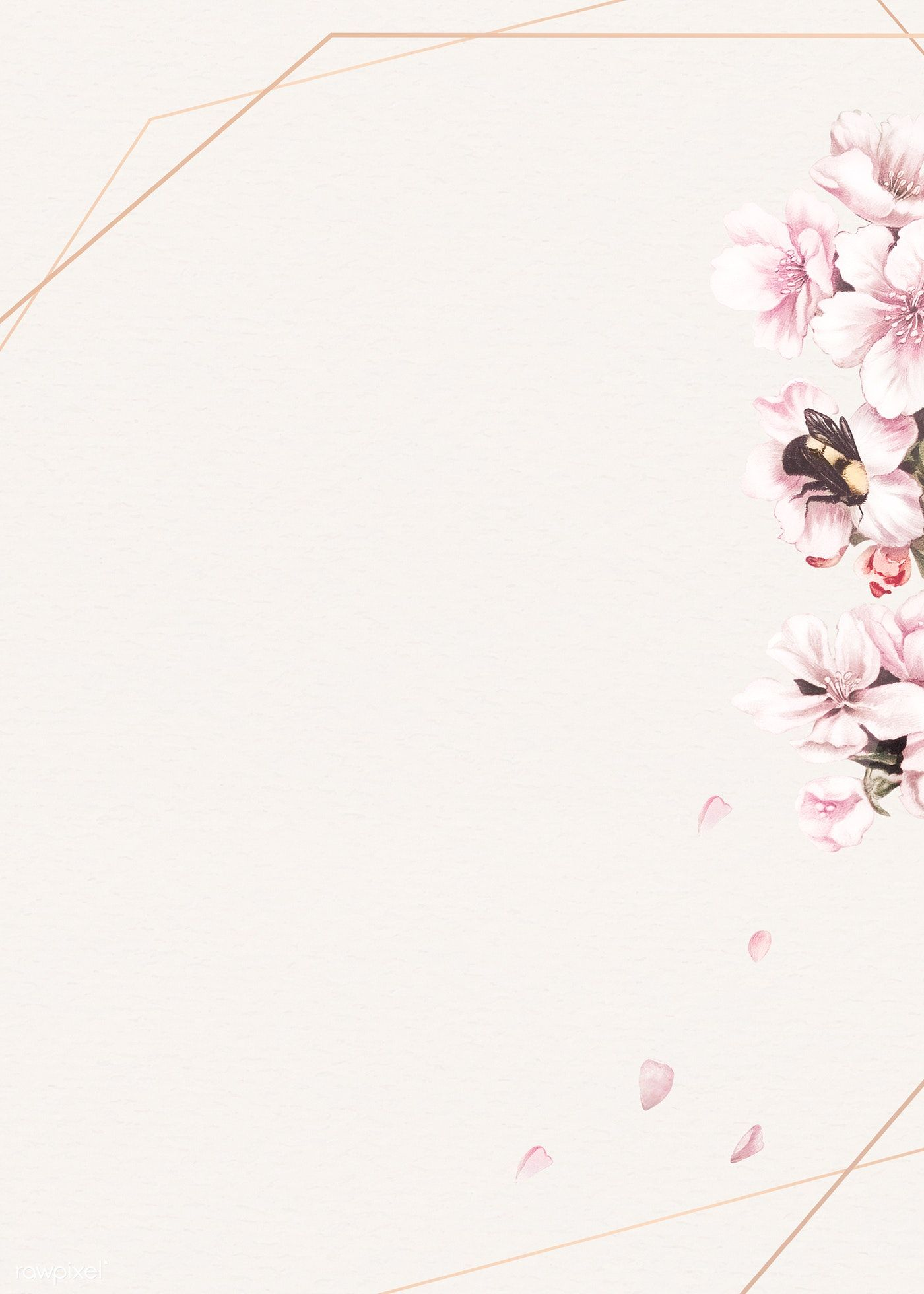 Blank pink floral frame design free image by rawpixel