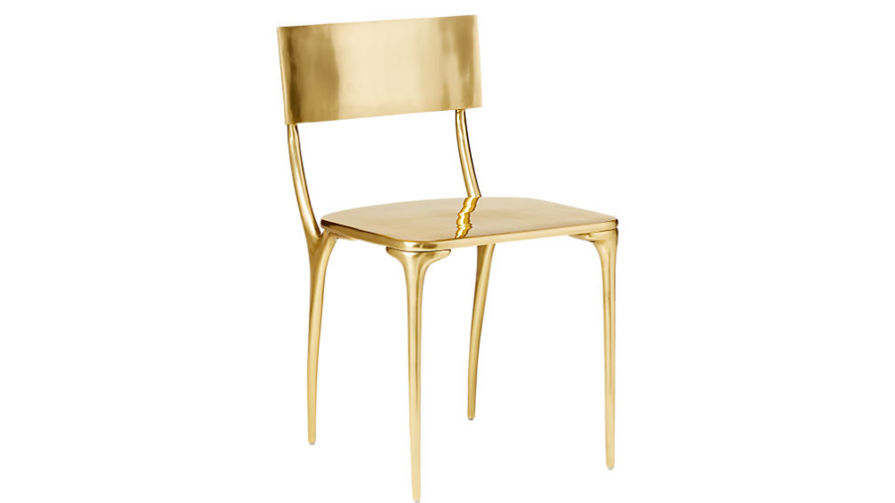 Oro Gold Dining Chair Reviews Cb2 In 2020 Gold Dining Chairs