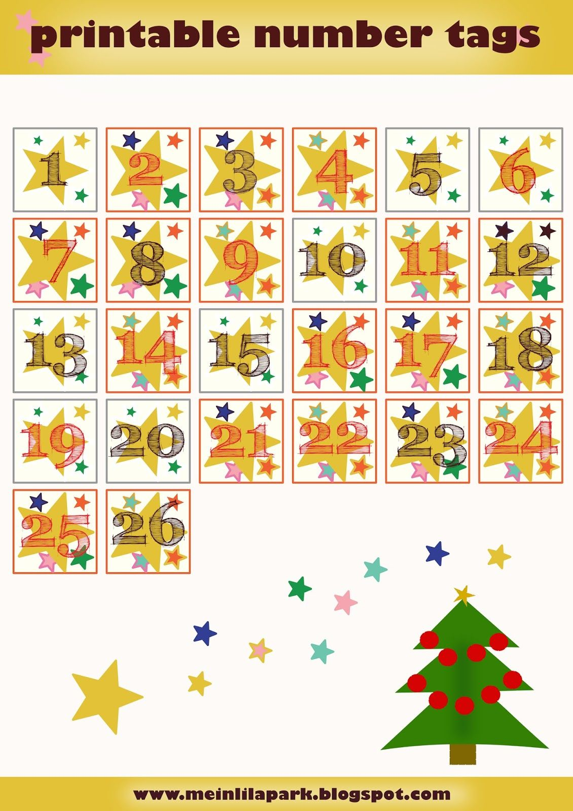 photograph relating to Advent Calendar Printable identified as Absolutely free printable introduction calendar figures - Zahlen für