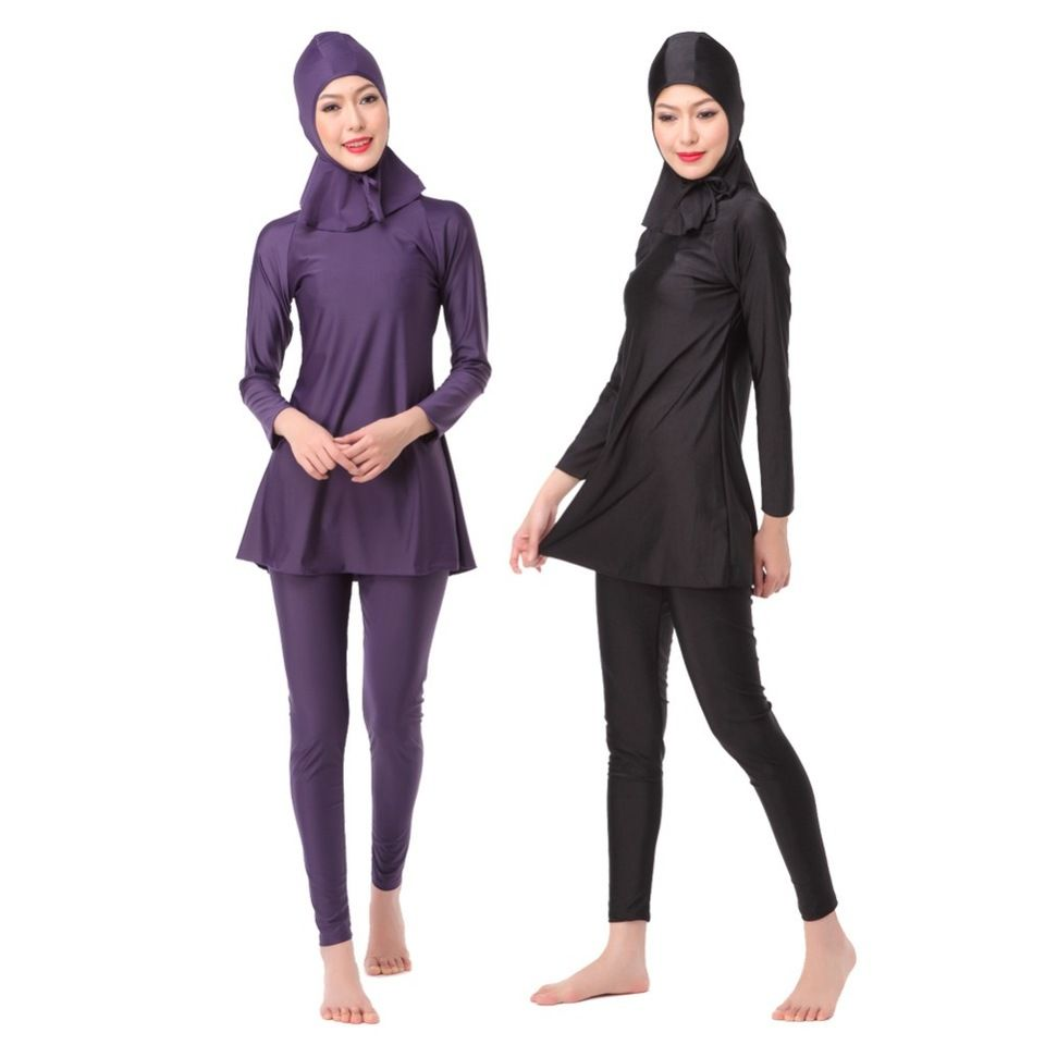 Womens Modest Islamic Muslim Ladies Burkini Swimwear Swimming Arab Costume