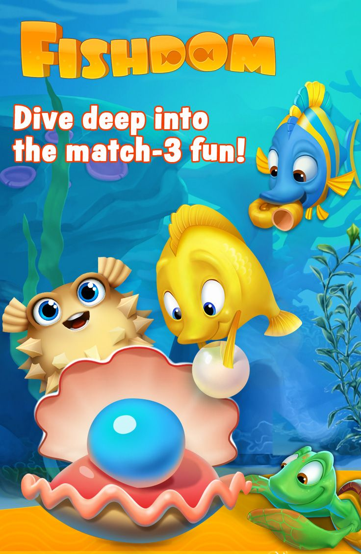 Dive into an underwater world of match3 fun! Free to play