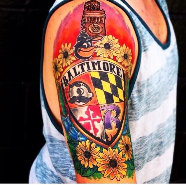 Maryland Sleeve Maryland Tattoo Tattoo Chart Meaningful Tattoos