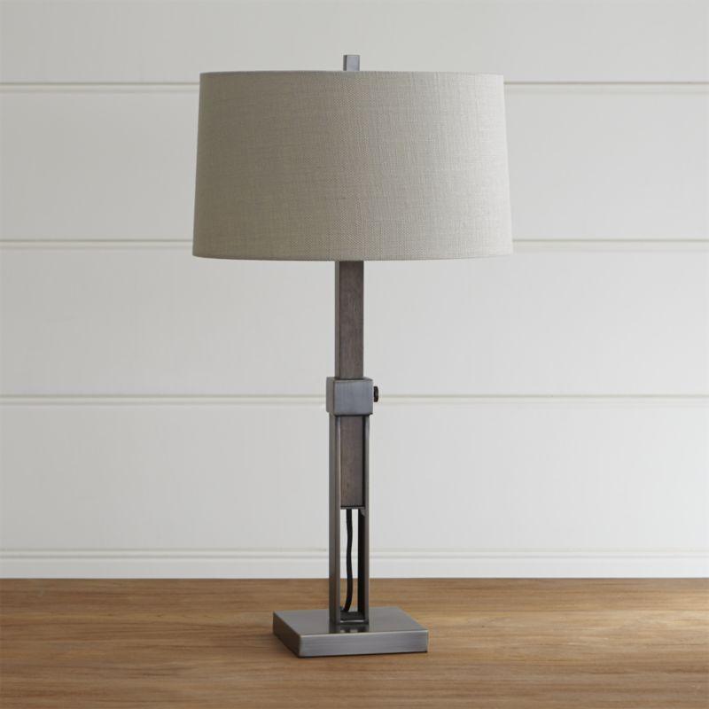 Denley Bronze Table Lamp + Reviews | Crate and Barrel