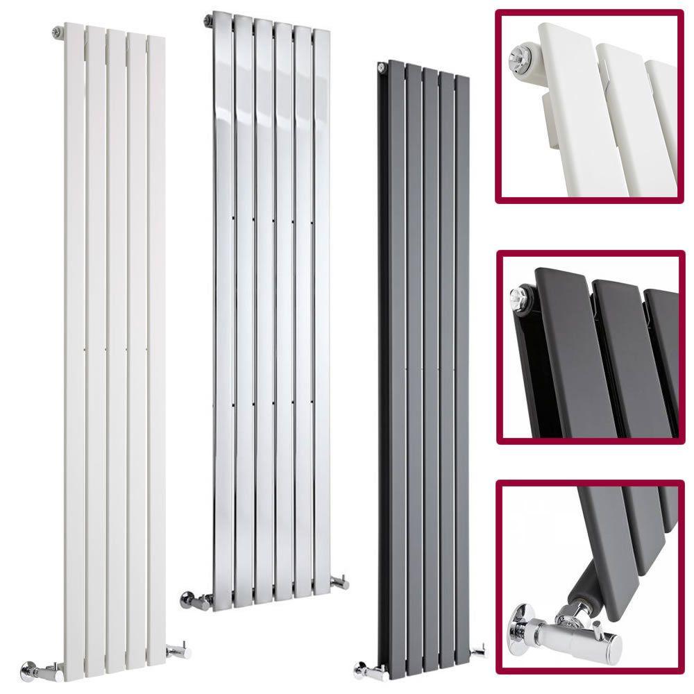vertical central heating flat panel designer radiators tall upright columns radiateur et chauffage. Black Bedroom Furniture Sets. Home Design Ideas