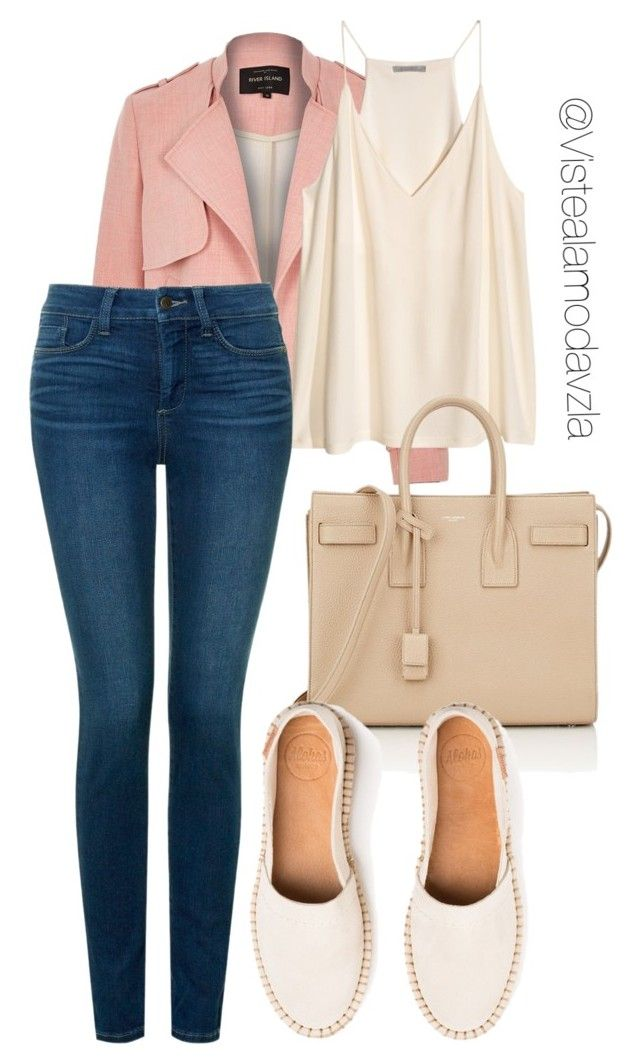 """""""lindo"""" by zulakais on Polyvore featuring moda, River Island, NYDJ y Yves Saint Laurent"""