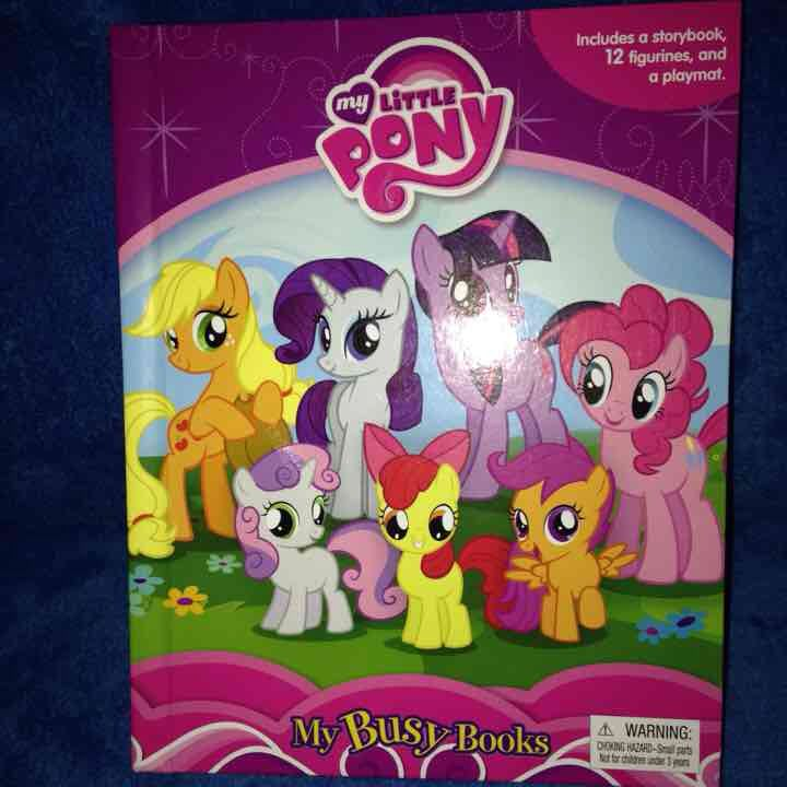 My Little Pony MLP My Busy Books New 12 Figurines and Playmat
