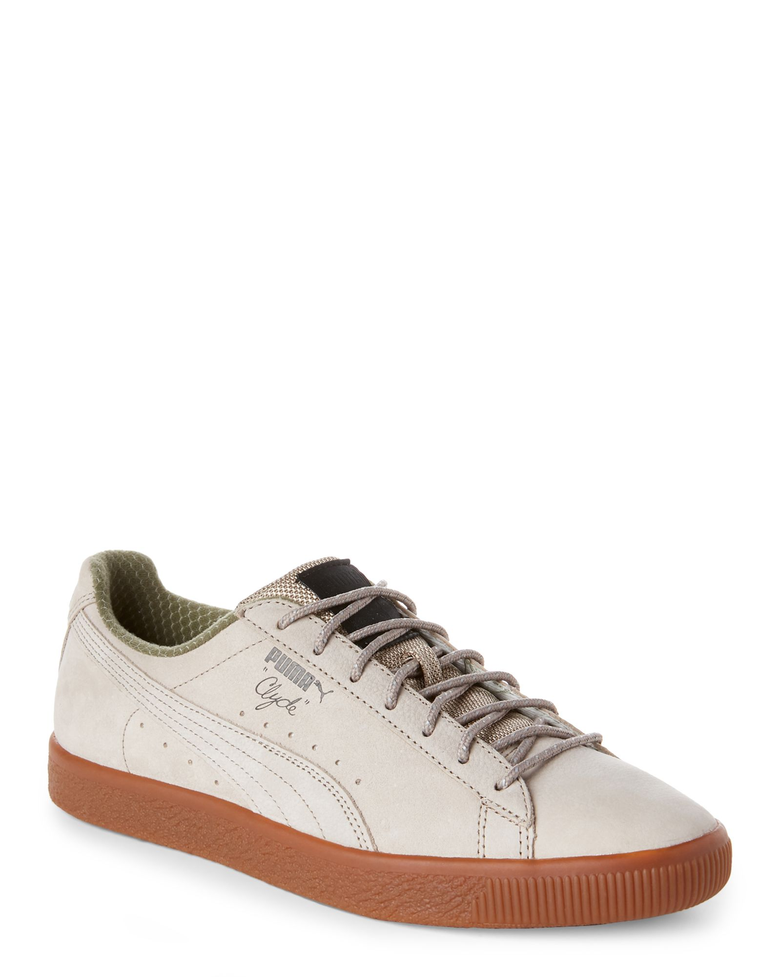 dc3462202be Puma Vintage Khaki Clyde Winter Low Top Sneakers