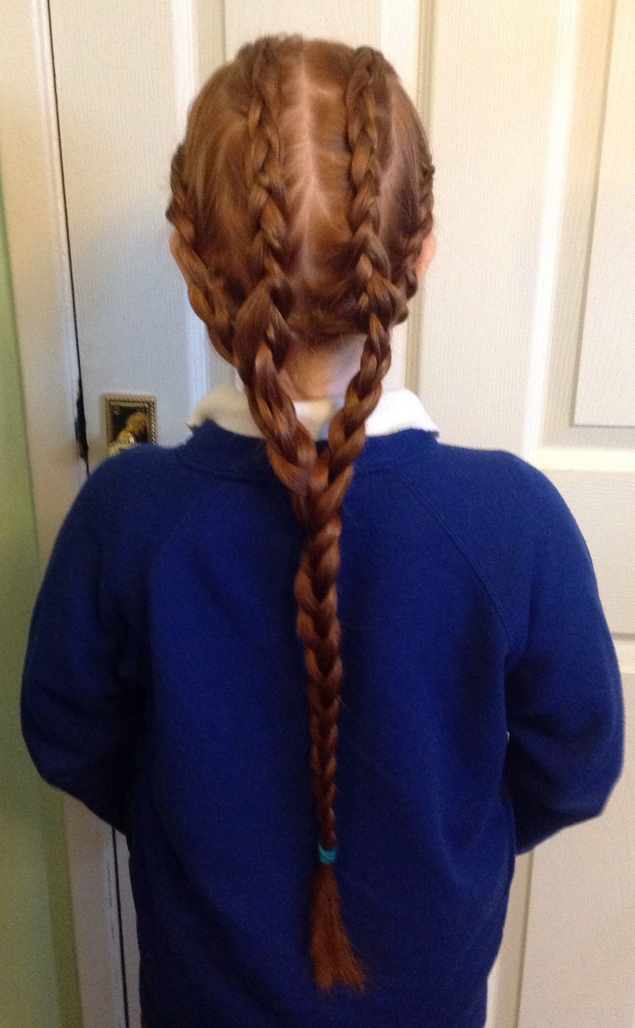 Reverse Bifurcation Four Braids Into Two Into One