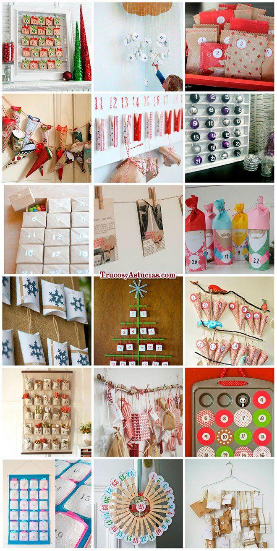 Calendarios de adviento originales reciclaje pinterest for Adornos originales para navidad