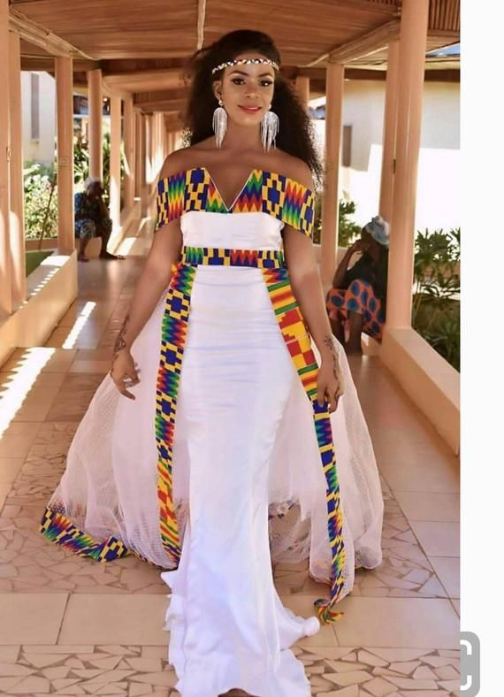 White wedding dress/ African sexy dress/ Nigerian